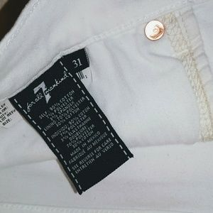 7 For All Mankind Shorts - 🆕 7 For All Mankind NEW 31 White Denim Shorts